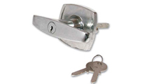 Garage Door Handles Fitted With A Lock And Designed To